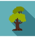 Green oak icon flat style vector image vector image