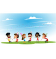 group of african-american and asian happy boys and vector image vector image