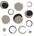 Grunge circles on white background vector image vector image