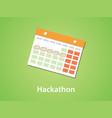 hackathon icon symbol with calendar and marking vector image vector image
