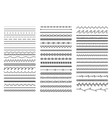 hand drawn doodle dividers abstract doodle lines vector image