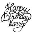 happy birthday harry name lettering vector image vector image