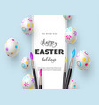 happy easter holiday background vector image vector image
