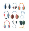 headphones collection set ultra modern wireless vector image vector image