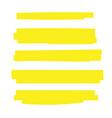 highlight brush underline yellow marker pen vector image