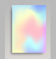 hologram gradient backdrop vector image vector image