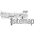how to make a sitemap for your website in five vector image vector image