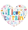 I love the rain heart vector image vector image