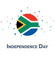independence day of south africa patriotic banner vector image