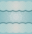 invitation card with mandala border turquoise lace vector image vector image