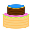isolated birthday cake icon vector image vector image