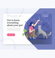 landing page template pet life vector image vector image