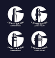 Lighthouse circle badges vector image