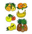living fruits vector image vector image