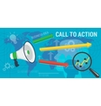 long background CALL to ACTION vector image vector image