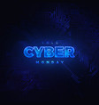 luminous cyber hologram vector image vector image