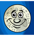 man in the moon saying cartoon vector image vector image
