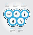 management icons set collection of co-working vector image vector image