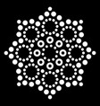 mandala australian dot paiting design vector image vector image