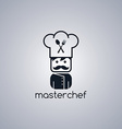 master chef cartoon vector image vector image