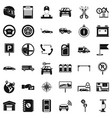 mechanic auto icons set simple style vector image vector image