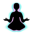 meditating person with aura vector image vector image