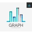 minimal line design logo chart graph icon