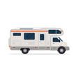 modern camper van comfortable motorhome side view vector image