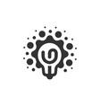 monochrome stylized lightbulbs logotype new idea vector image vector image