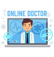 online doctor consultant flat icons vector image