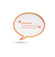 orange speech bubbles isolated on white background vector image vector image