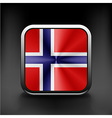 original and simple Norway flag isolated vector image