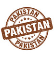 pakistan brown grunge round vintage rubber stamp vector image vector image