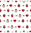 pattern hearts on a white background vector image