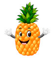 pineapple with face vector image vector image