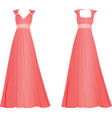 pink women elegant dress vector image