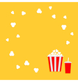 Popcorn round frame Cinema icon in flat dsign vector image vector image