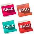 Sale Titles on Notebook Bent Paper Sheets Set vector image vector image