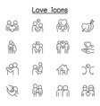 set love line icons contains such icons as hug vector image