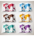 Set of colorful Maps of the World vector image