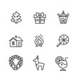 set of icons isolated on white vector image vector image