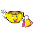 shopping soup union character cartoon vector image vector image