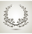silver laurel wreath vector image vector image