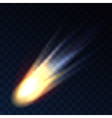 Star fall on transparent background comet meteor vector image vector image