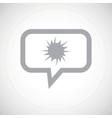 Starburst grey message icon vector image vector image