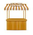 street food stall coffee vector image vector image