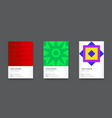 stylish bright trendy vertical business card set vector image vector image