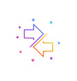 synchronize arrows line icon arrowheads vector image