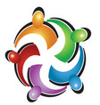 teamwork colorful hug logo vector image vector image