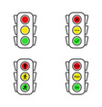 traffic light icons set yes no and wait stand vector image vector image